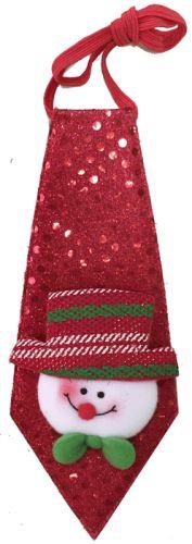 ışıklı ve pullu yılbaşı kravatı