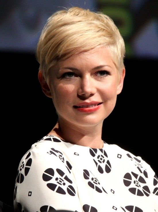 Chic short blonde pixie cut for 2014 - Michelle Williams' Haircut