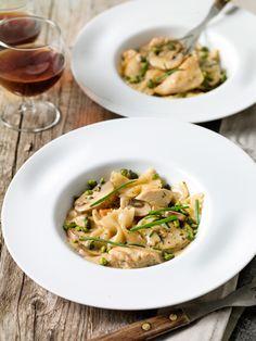 Pasta met kip en champignons - Sparretail !