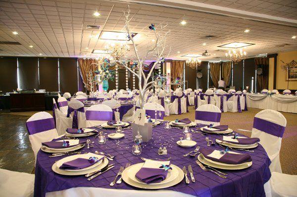 Blue Purple Silver Centerpieces Wedding Reception Photos & Pictures - WeddingWire.com