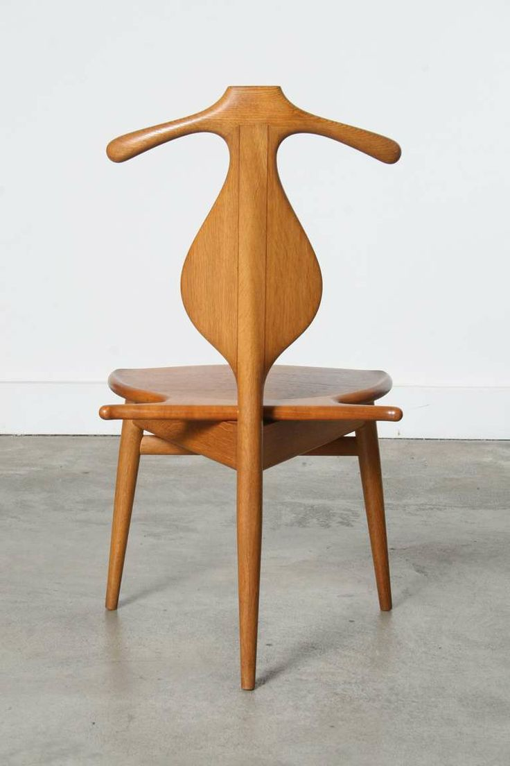 Hans Wegner 1st Edition Valet Chair for Johannes Hansen | From a unique collection of antique and modern chairs at http://www.1stdibs.com/furniture/seating/chairs/