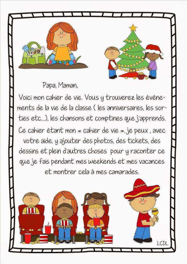 La maternelle de Laurène: Page de garde cahier de vie