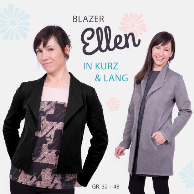 "Damenblazer in zwei Längen nähen – unser Schnittmuster ""Ellen"""