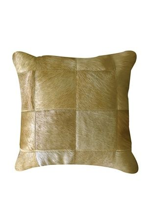 Natural Brand Torino Patchwork Pillow, Tan