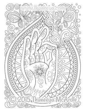 follow your bliss coloring page by thaneeya mcardle - Art Therapy Coloring Pages Mandala