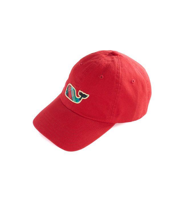 Big Whale Plaid Fill Baseball Hat