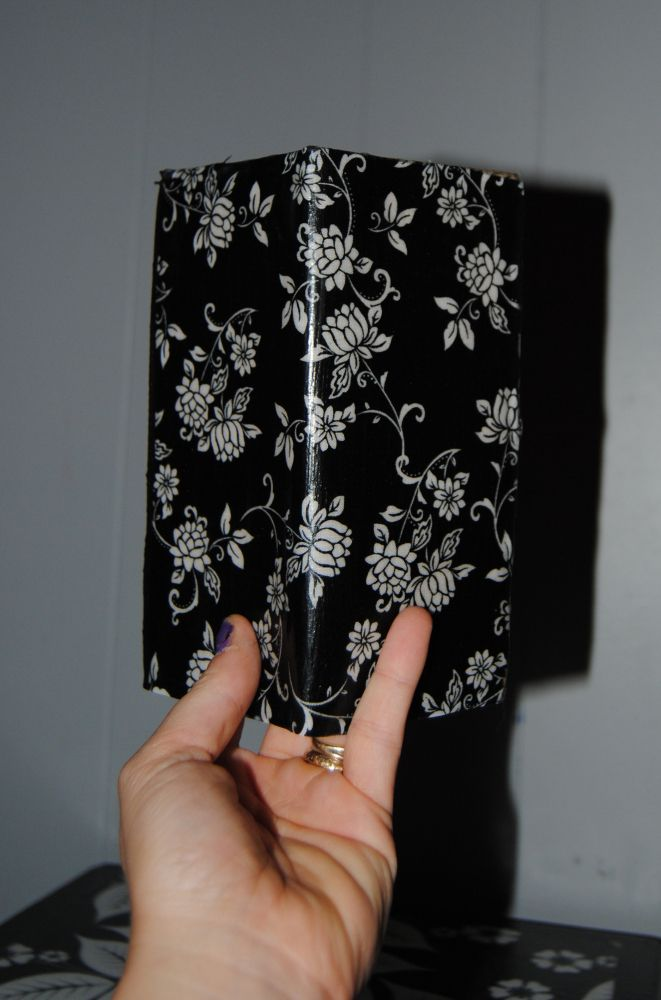 Checkbook Cover Revival: Made with Fabric Scraps and Mod Podge.