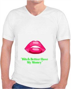 İddalı Kendin Tasarla - Erkek V Yaka Tişört