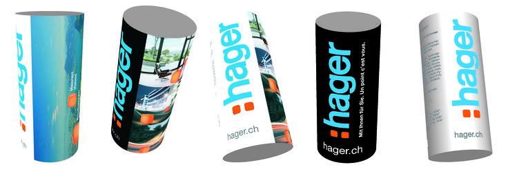 Série de photographies publicitaires réalisée pour la promotion de la nouvelle gamme d'interrupteur Hager.