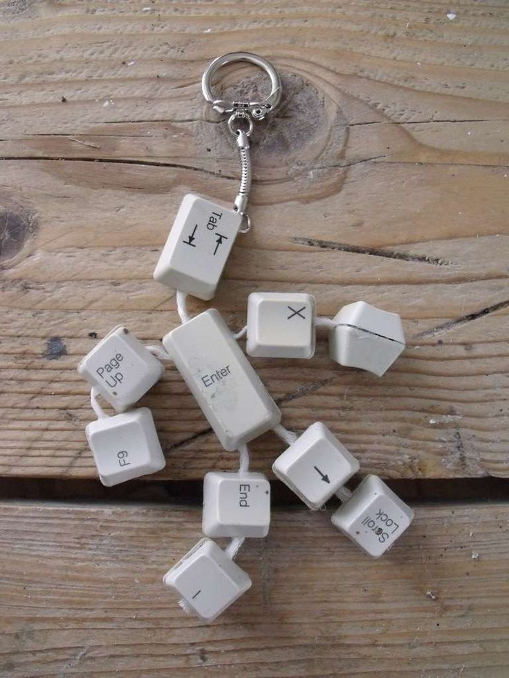 Keyboard key ring.                                   Gloucestershire Resource Centre http://www.grcltd.org/scrapstore/