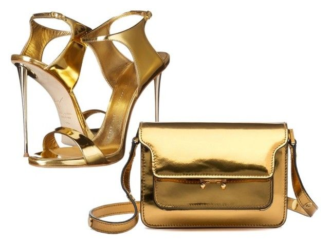 """Gold!"" by archita-dewi on Polyvore featuring Giuseppe Zanotti and Marni"