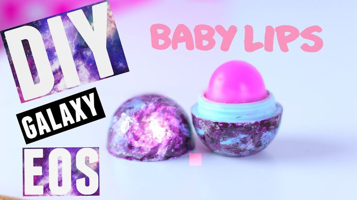 DIY GALAXY EOS LIP BALM with BABY LIPS - PINK PUNCH | Tutorial | Wendine...