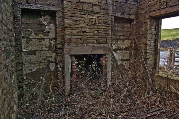 Inside the ruined gatehouse, Upper Shibden Hall, near Halifax, West Yorkshire