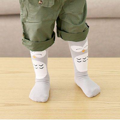 4 Styles Leg Warmers Cartoon Totoro Owl Baby Tights Leggings Cotton Knee Socks For Kids Legging Infantil Baby Leg Warmers HK736