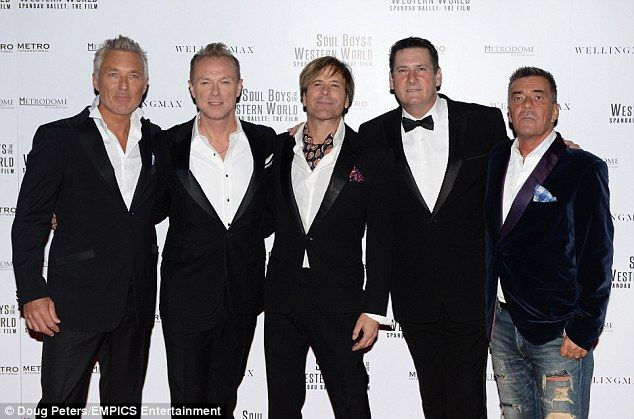 Going for gold: Spandau Ballet reunited for the eagerly awaited premiere of Soul Boys of t...