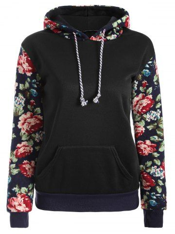 Love this <3 -----|  GET $50 NOW | Join RoseGal: Get YOUR $50 NOW!http://www.rosegal.com/sweatshirts-hoodies/floral-print-front-pocket-preppy-786176.html?seid=7060716rg786176