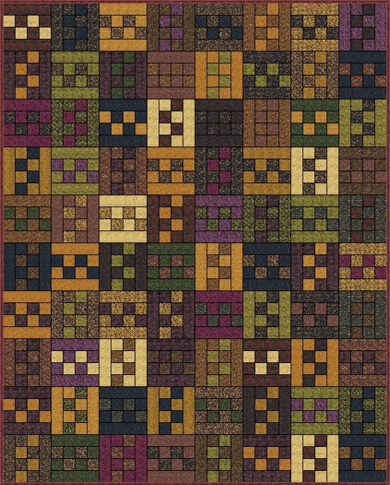 This quilt is not only perfect for jelly rolls but great for scraps! This quilt would also look very lovely in Kansas Troubles Prints . ...