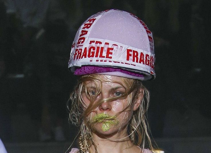 Fragile Hat by PRUDENCE MILLINERY for Andreas Kronthaler for Vivienne Westwood SS18