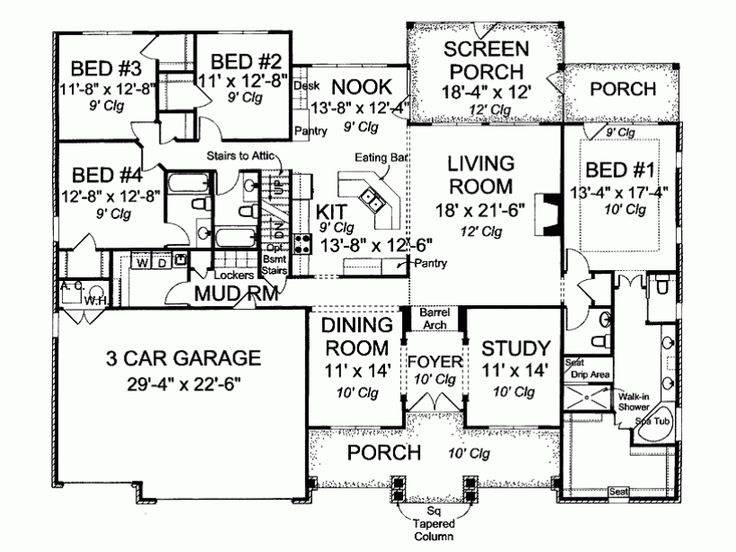 466 best building a house images on pinterest house floor plans eplans bungalow house plan sitting pretty 2695 square feet and 4 bedrooms from eplans malvernweather Images