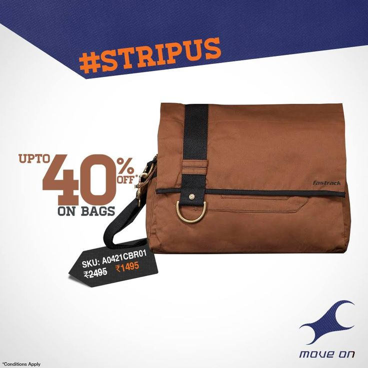 Grab Up-to 40% OFF on #Fastrack #Bags, Watches, Sunglasses, Belts, Wallets and more… Let #Style talk about you.   Show Now: http://goo.gl/KHGKih