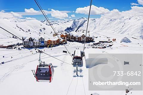 Gondola lift, Gudauri ski resort, Georgia, Caucasus region, Central Asia, Asia