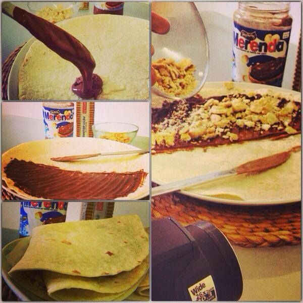 On the making!!! Merenda and petit-beurre crepe for dinner!!!