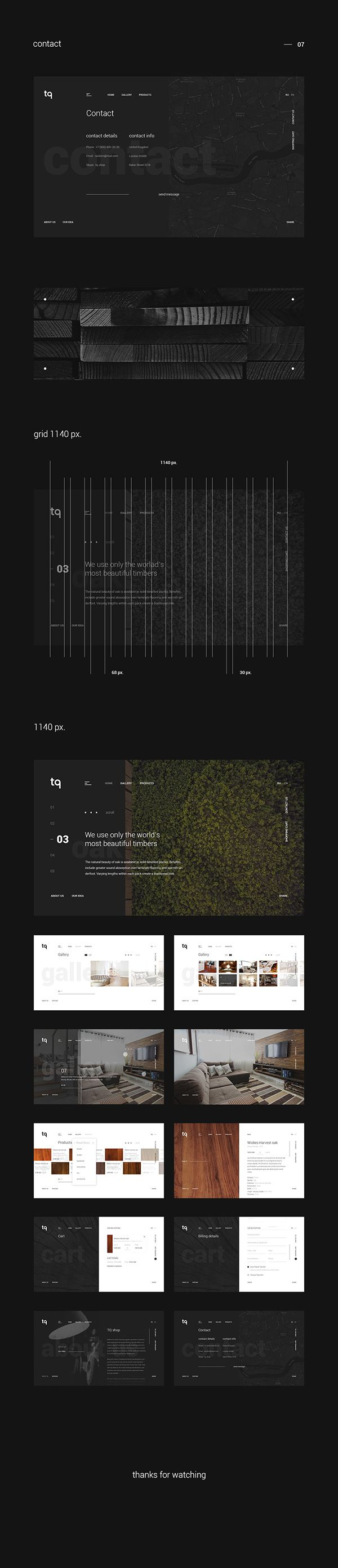 TQ shop website concept on Web Design Served
