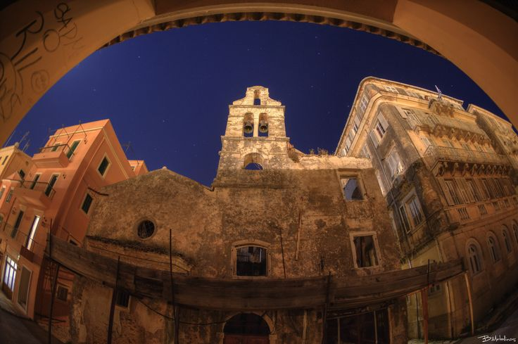 Nightscape at Agia Ekaterini - Nightscape at Agia Ekaterini, Kampielo, Corfu