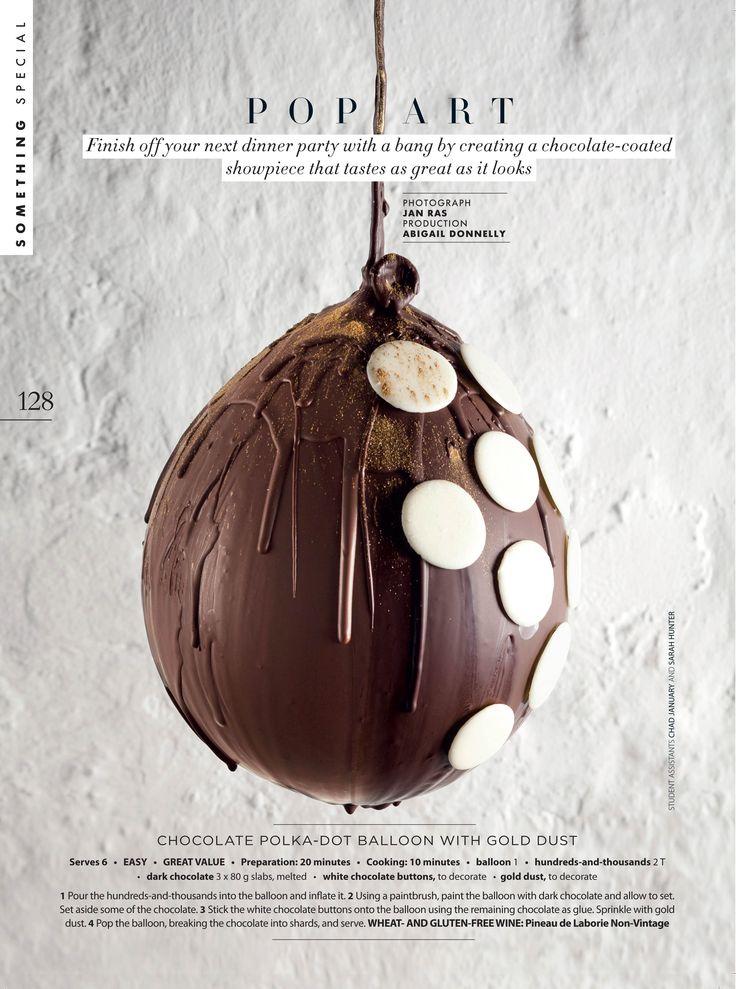 Chocolate coated show-piece