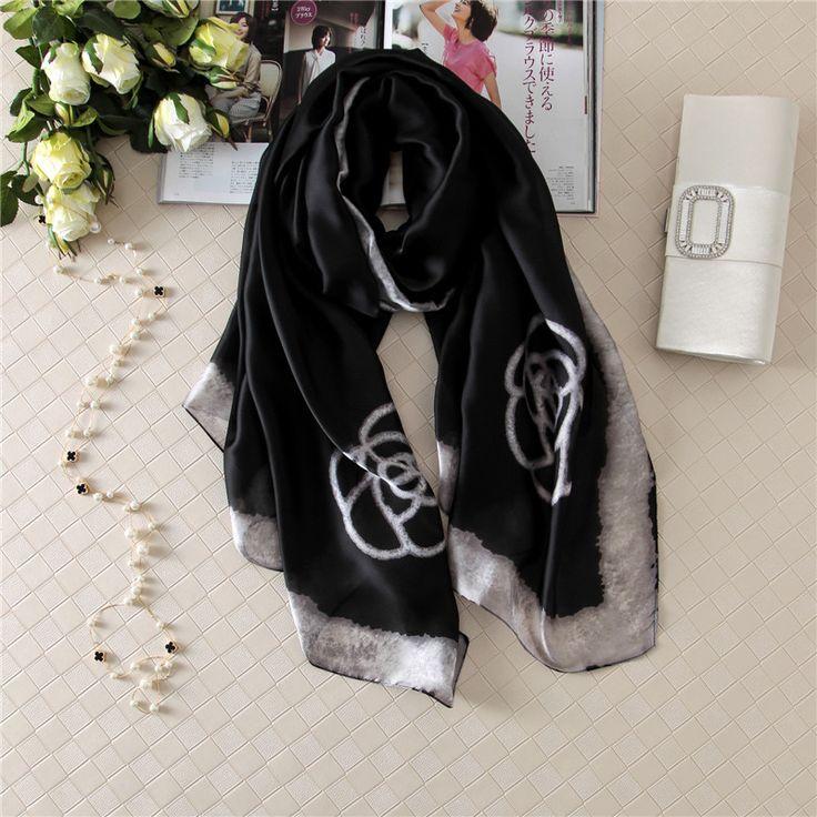 New Women Silk Scarves and Beach Shawl Fashion Lady Scarf  Echarpe Luxurious Wrap of Plus Size SC28