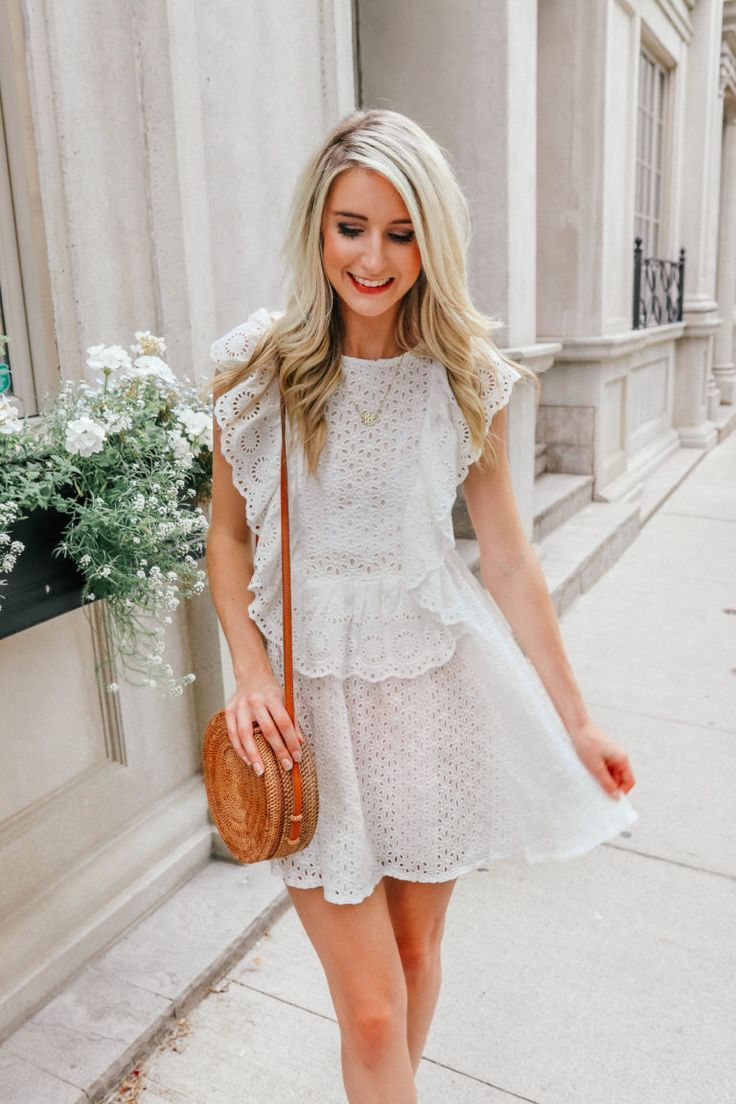 White Summer Dress White Dress Summer White Dress White Dresses White Lace Dress White Ruffle Dress Summer Dresses White Dress Summer Boho Summer Outfits [ 1104 x 736 Pixel ]