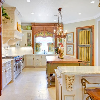 Mediterranean kitchen design pictures remodel decor and for Country kitchen pantry ideas