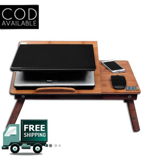 #Wooden #LaptopTable With #CoolingFan At Reasonable Price. Do You Want To  See. Portable Laptop TableExclusive ...