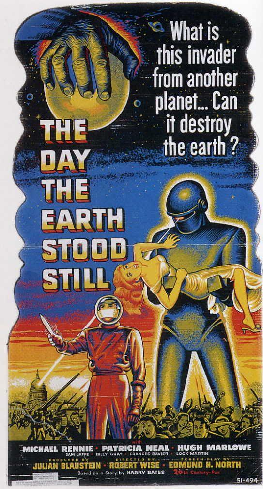1951, vintage Sci-fi movie poster
