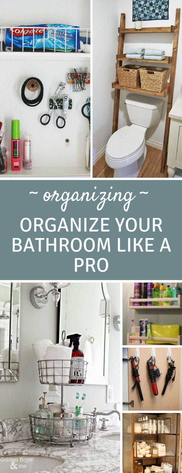 14 Brilliantly Easy Bathroom Organization Hacks that