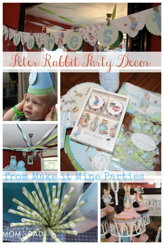 Baby's First Birthday :: A Peter Rabbit Birthday Party | A Year with Mom & Dad