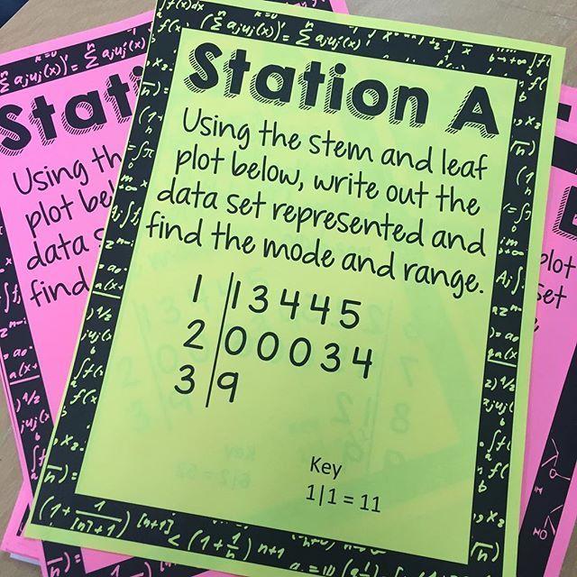 Stem and leaf plot stations
