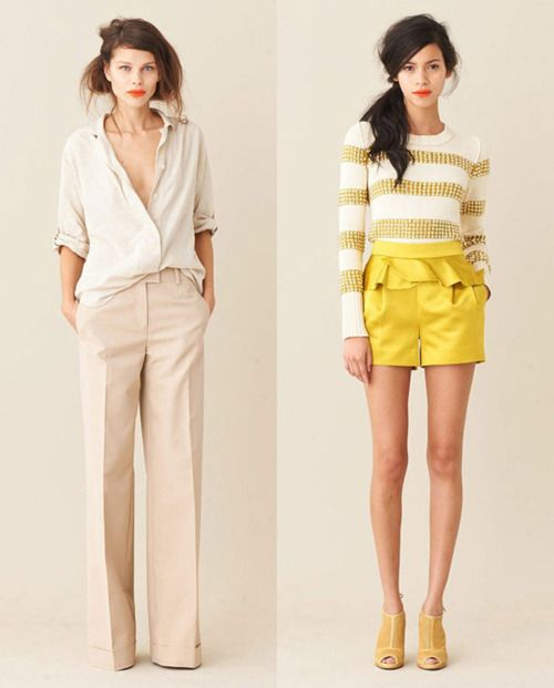 spring  and summer: Fashion, Style, J Crew, Clothing, Jcrew, Yellow, Wear