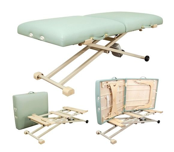 Converts regular massage table into an electric lift table.