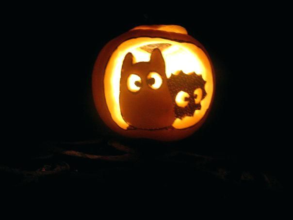 Totoro And Soot Sprite Jack O Lantern Pumpkin Carving Pumpkin Template Diy Pumpkin Carving