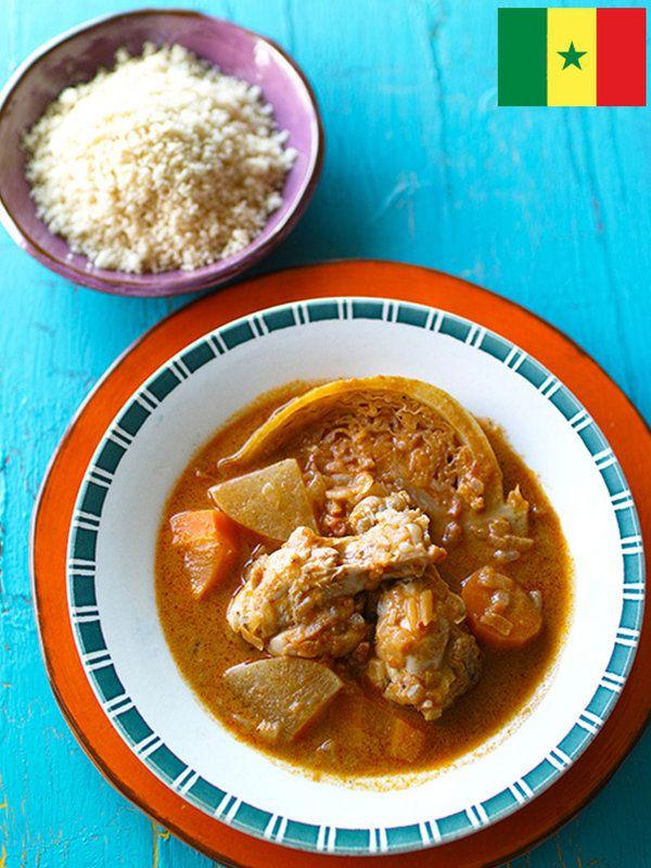 Recipe : チキン・マフェ(ピーナッツシチュー、セネガル)/ピーナッツのこくがたまらない。日本でいうごはんが止まらない味。フフ(もち)やクスクスといっしょに