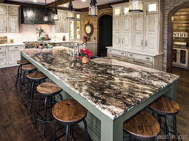 Kitchen Is Makeover Magic In Bath Ohio Housetrends Granite Kitchen Island Gourmet Kitchen Island Gourmet Kitchen Design
