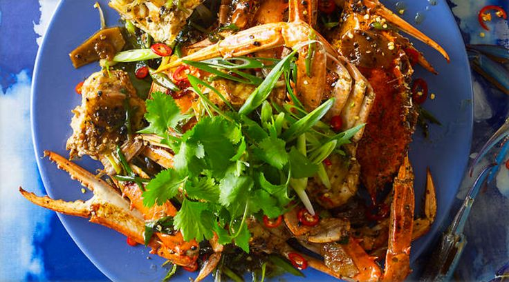 Black Pepper Crab - Thought to have been created in the 1950s at Long Beach Seafood restaurant, black pepper crab has since become a staple of Singapore's street food stalls. http://www.sbs.com.au/food/recipes/singapore-wok-fried-black-pepper-crab