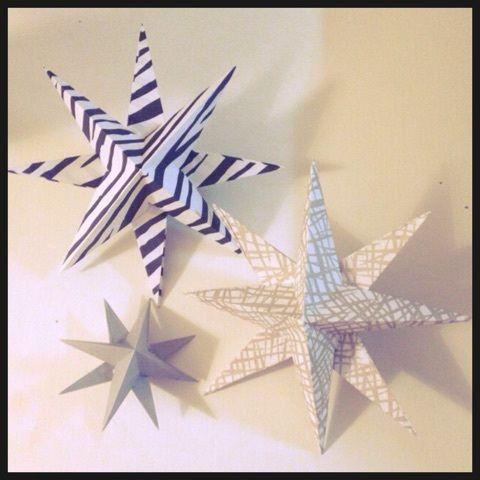 立体折り紙 星