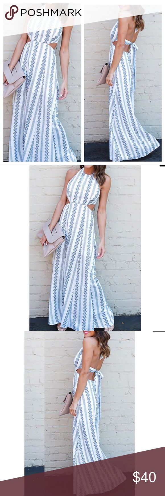 🍾SUMMER 17 boho Maxi dress🍾 Summer 2017 boho halter maxi dress🍾 Backless and cut out detail🍾 Paisley geometric mandala print🍾 Ask questions due to posh no return policy🍾 Spend $75 get free shipping🍾  If you like LF urban outfitters free people  asos brandy Melville style this dress is for you!   🌟suggested seller  🌟5 star seller 🌟host pick seller DIVIINE Dresses Maxi