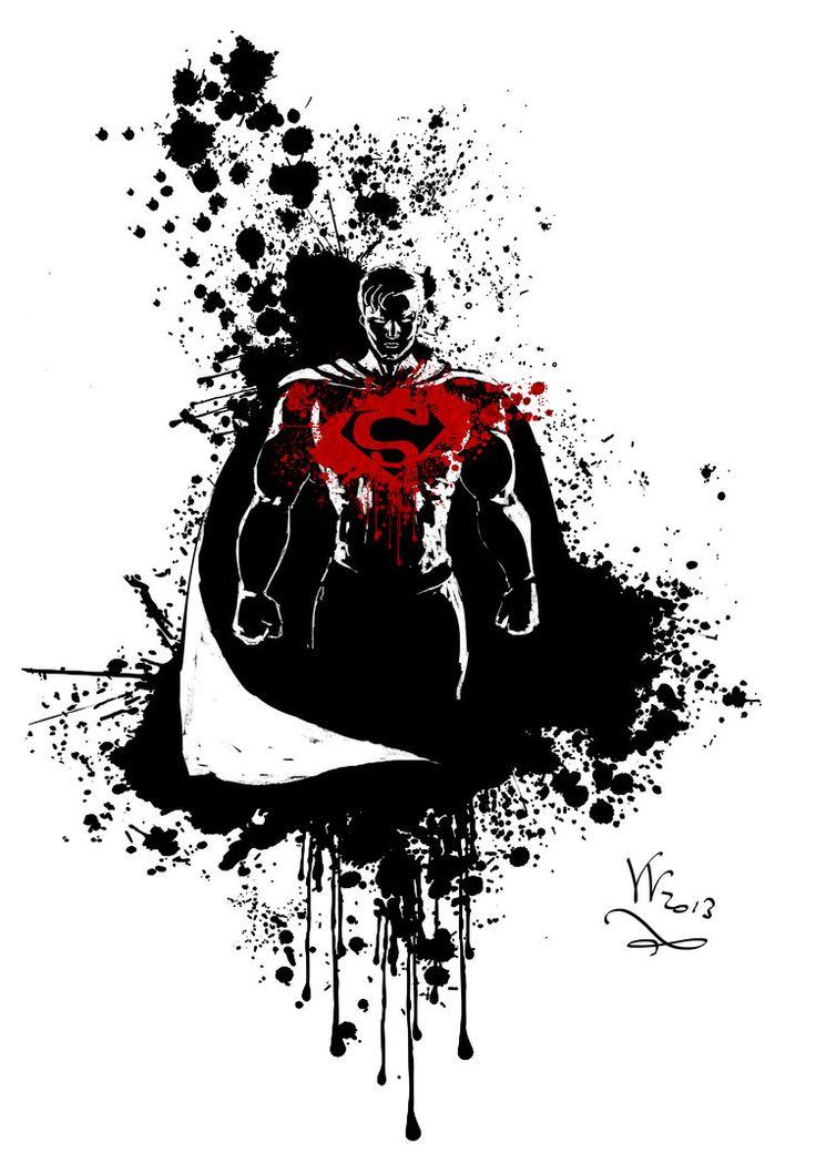 superman tribal tattoo