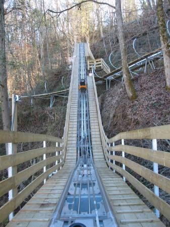Smoky Mountain Alpine Coaster- Alex, Scotty, Kim, Carter and Gracie has alot of fun on this. One of the coolest things I have ever seen.