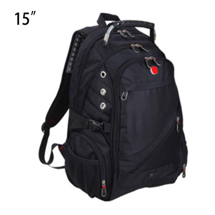 Negro del ordenador portátil morral de la escuela bolsas de viaje hombres oxford mochilas de Viaje bolsa de portátil a prueba de agua para hombre 14 15 pulgadas