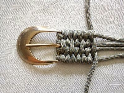 Tutorial for weaving a belt - look we will just make our own now. ♥
