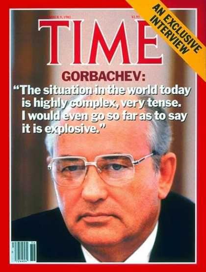 Time - Mikhail Gorbachev - Sep. 9, 1985 - Cold War - Russia